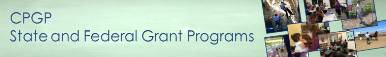 CPGP State and Federal Grant Programs